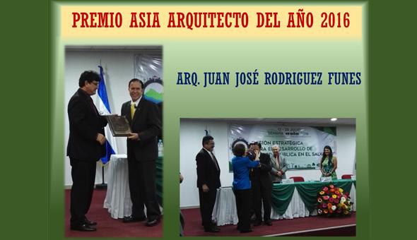 PREMIOS ASIA 2016 - ARQUITECTO DEL AÑO !!!