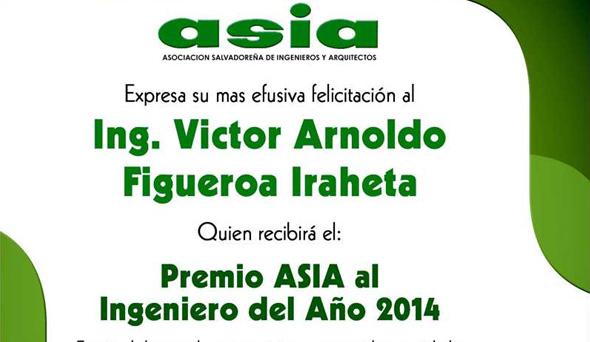 PREMIO ASIA AL INGENIERO DEL AÑO 2014