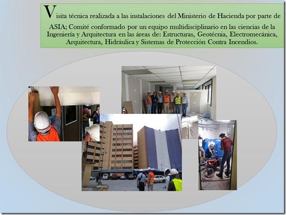 Visita técnica realizada a las instalaciones del Ministerio